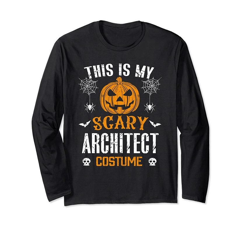 This Is My Scary Architect Halloween Costume Long Sleeve T-shirt
